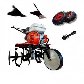 OFERTÓN CORTAMOS PRECIOS- Motoazada Powerground 700 OHV +ruedas de 400+asurcador+enganche+arado lateral