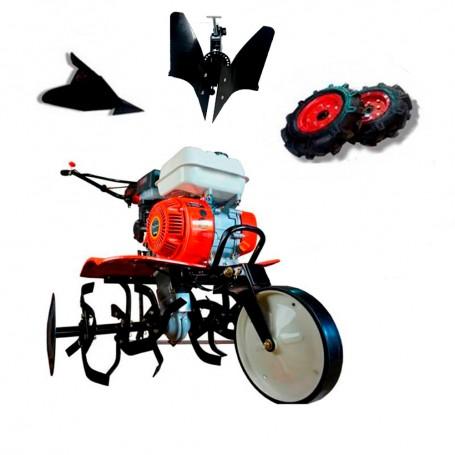 OFERTÓN CORTAMOS LOS PRECIOS- Motoazada Powerground 700 OHV+ruedas 400x8+asurcador+vertedera reversible