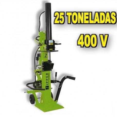 ASTILLADORA DE LEÑA DE 25 TONELADAS VERTICAL