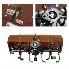 Rotavator trasero extensible 80cm para Motocultores KAPOTHA y BDG